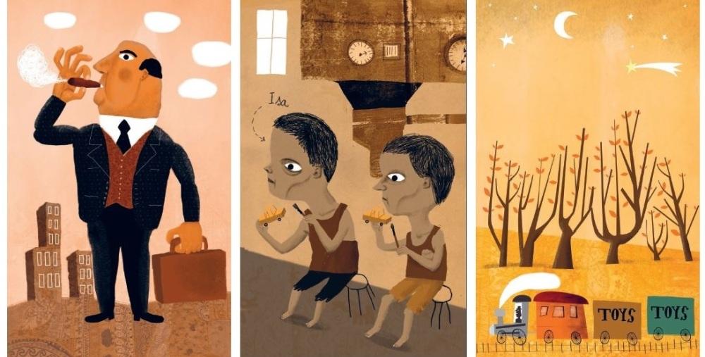 Ilustrações de Afonso Cruz Para onde vão os guarda-chuvas