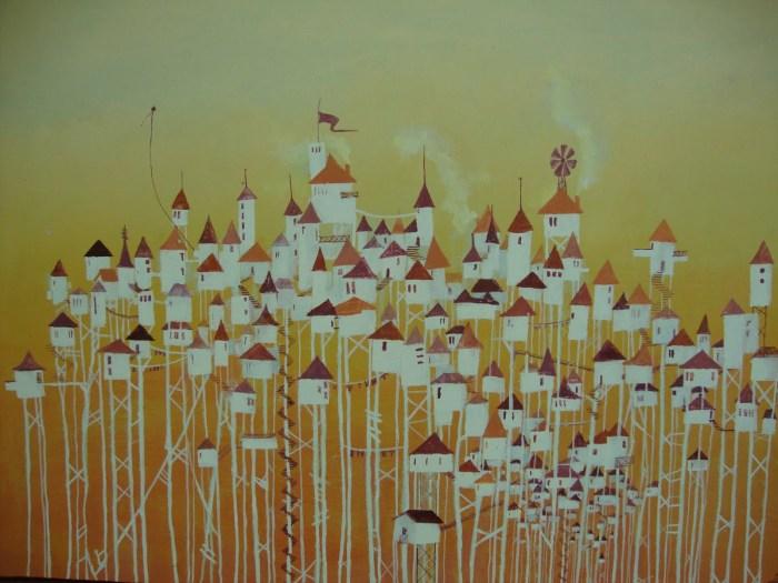 Zenóbia - Pintura acrílico sobre tela de Ítalo Stephan-1998 Zenóbia é uma das cidades invisíveis escrita por Italo calvino